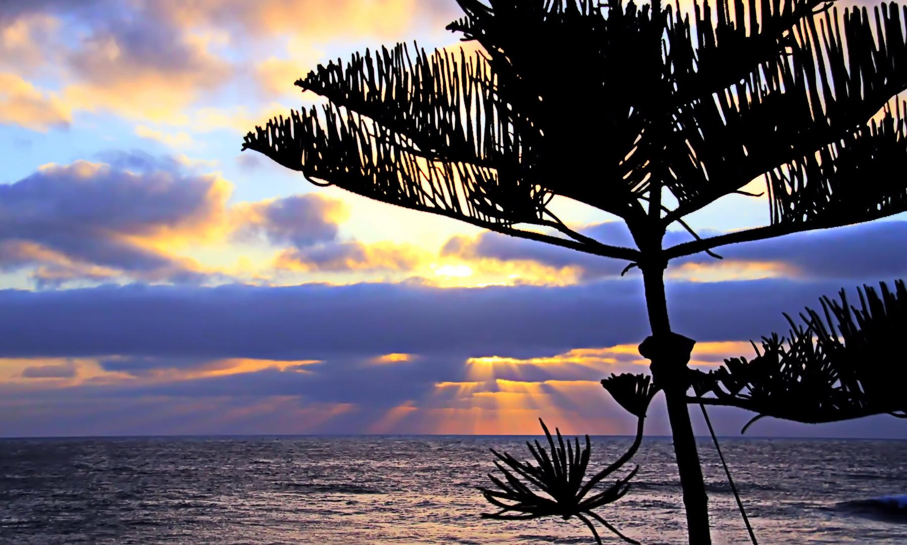 Lanzarote El Golfo Sonnenuntergang 2