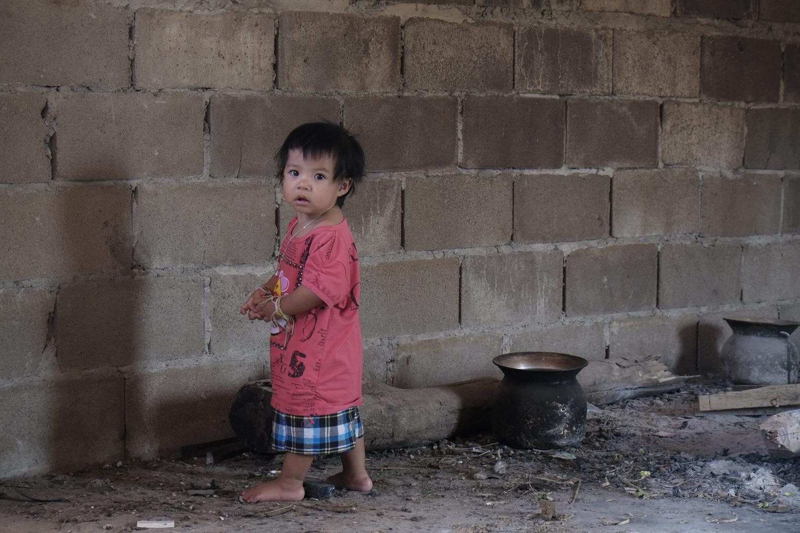 Laos village kid