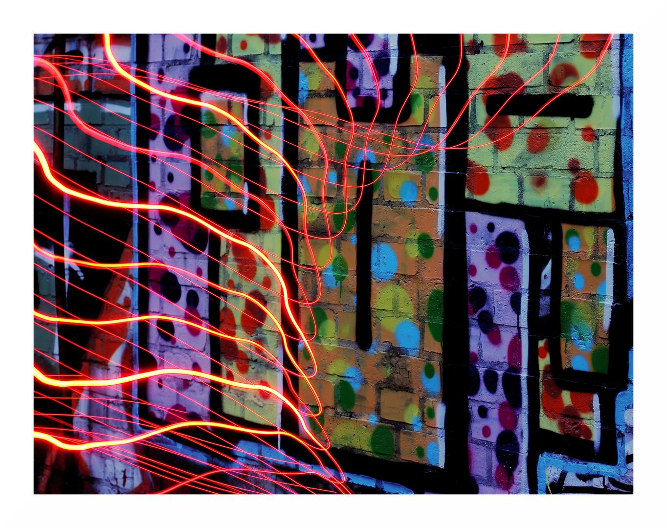 LAPADU mit LEDs und Graffiti...