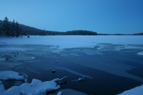 Laponie lac gelé