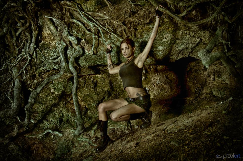 Lara Croft shooting