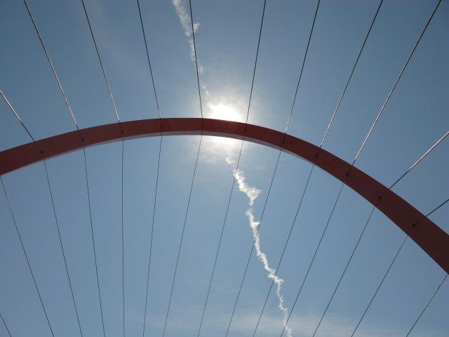 l'arco e la scia in cielo...