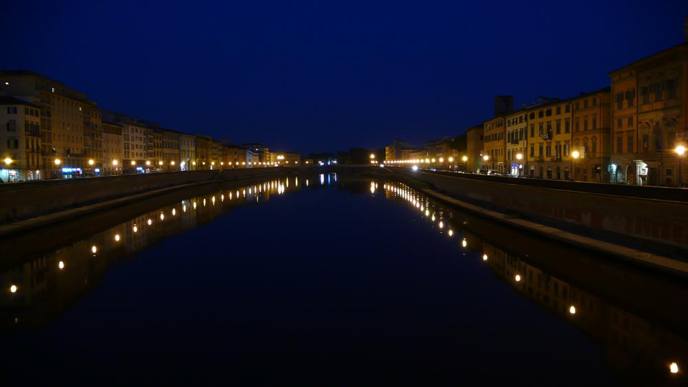 L'Arno calmo...