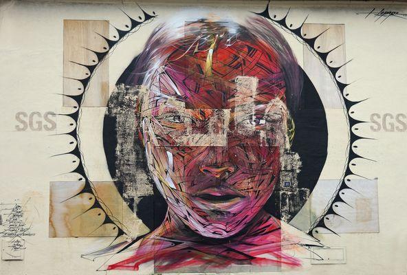 l'art sur un mur ....