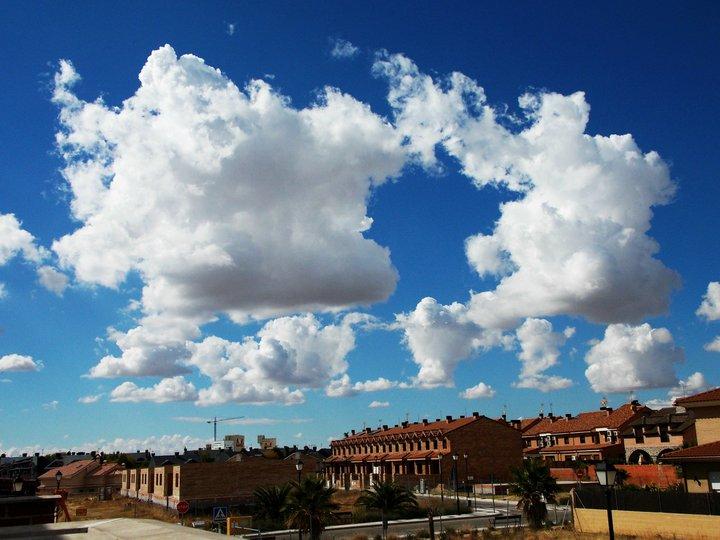 Las nubes esponjosas