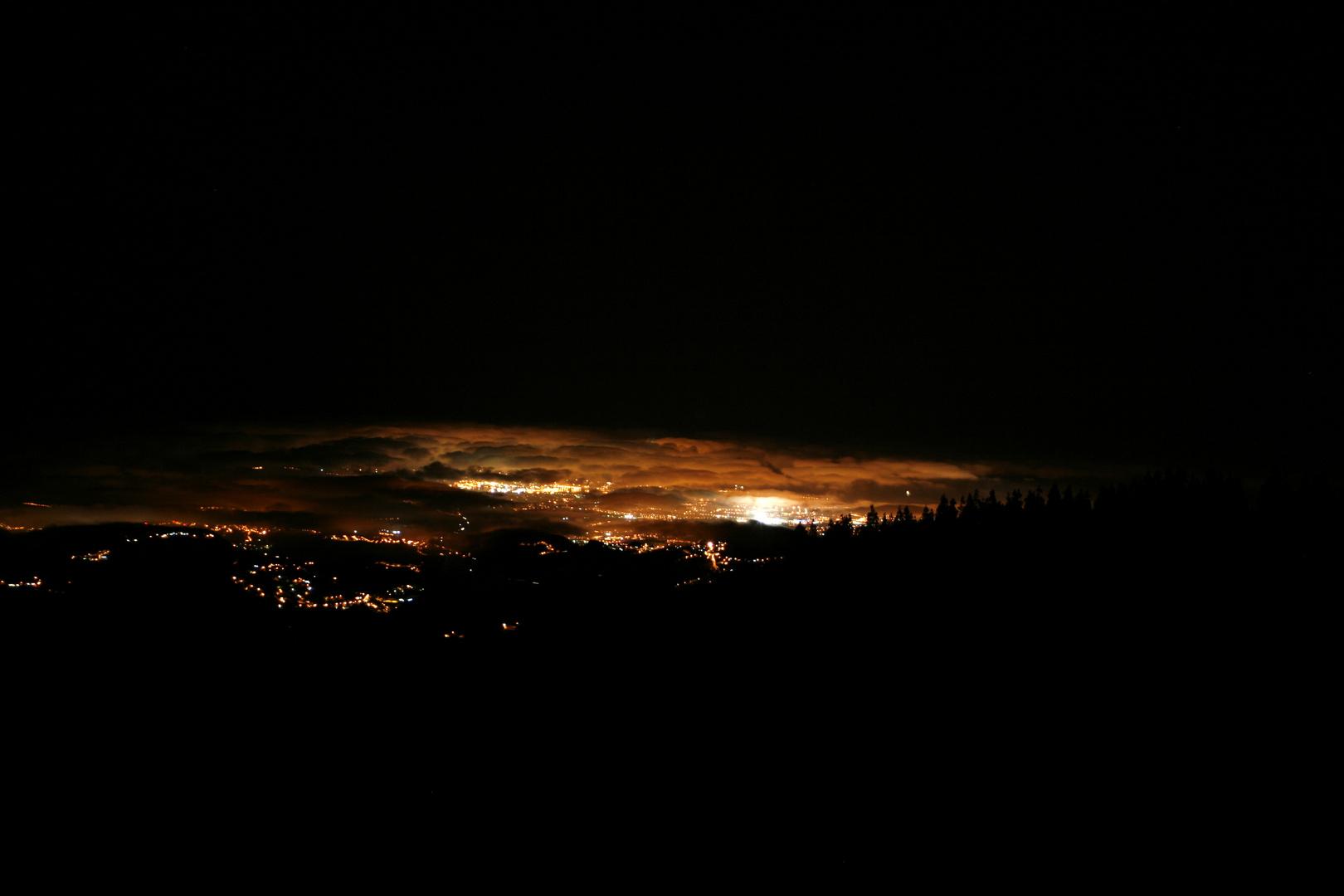 Las Palmas de noche (desde la cumbre)