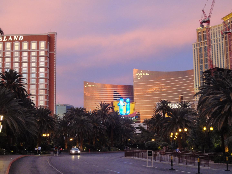 Las Vegas bei Dämmerung...