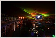 Lasershow auf der Aida Mar