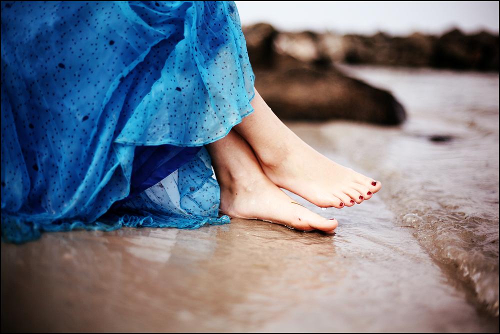 Lass das Meer deine Sorgen davon tragen
