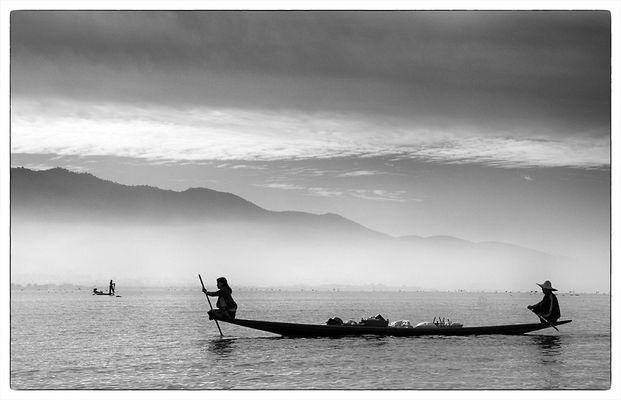 Lastkahn auf dem Inle-See