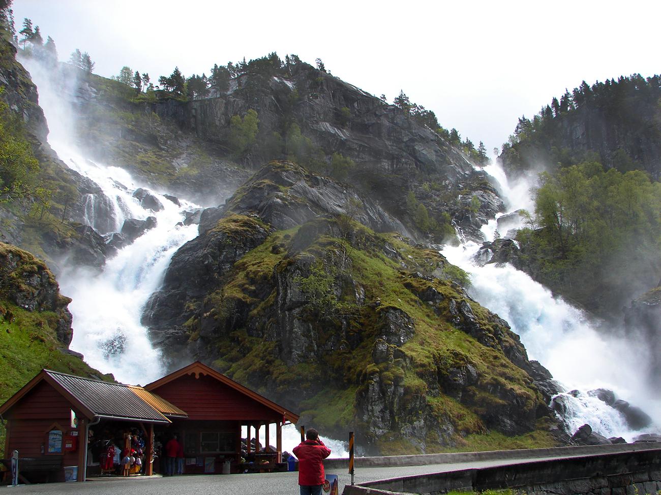 Latefossen Wasserfall