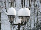 Laterne mit Schneehäubchen