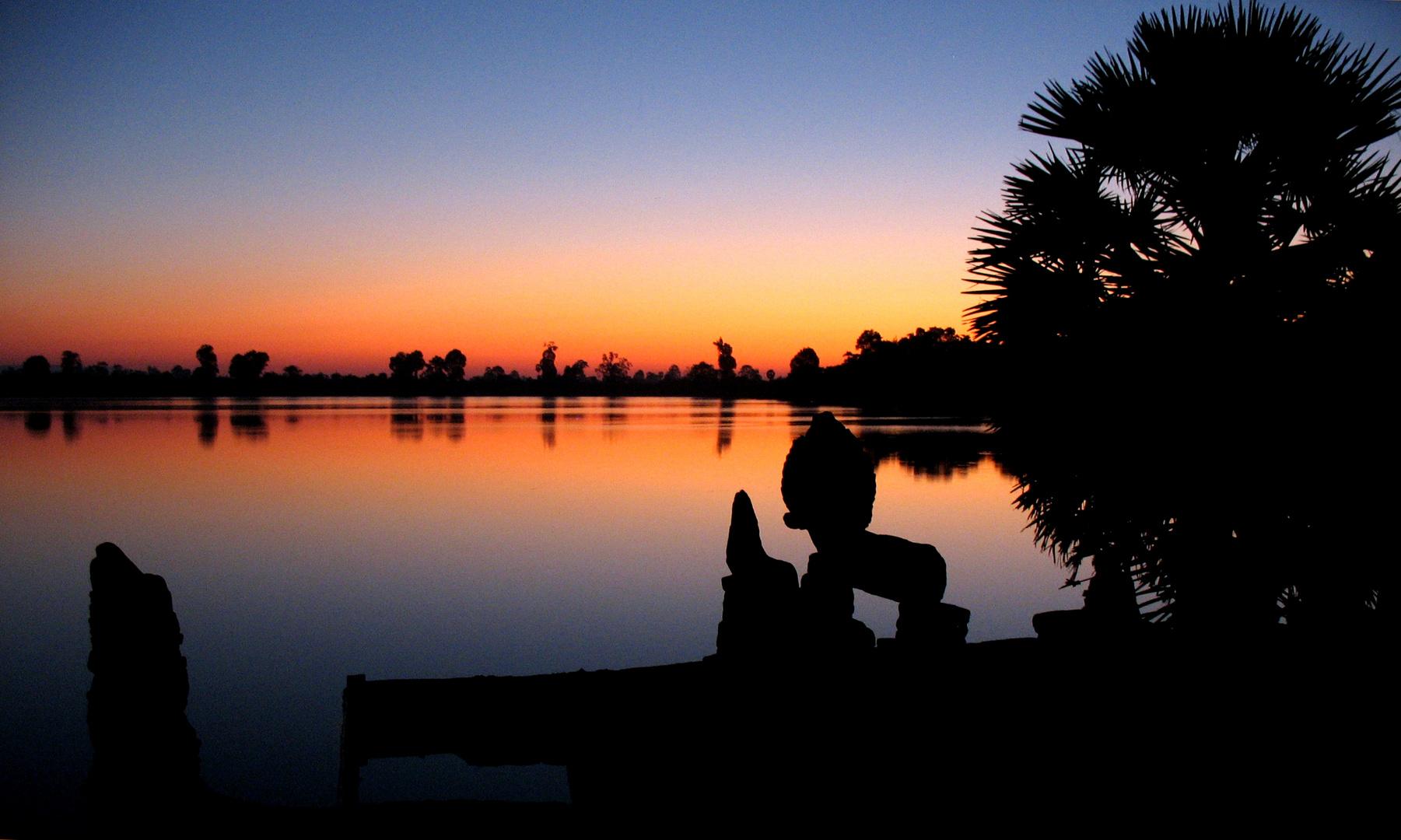 L'aube à Angkor