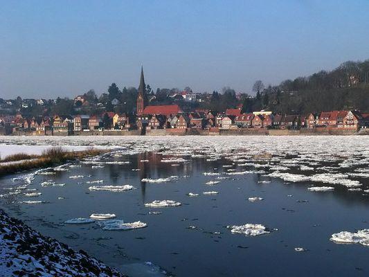 Lauenburg im Winter.