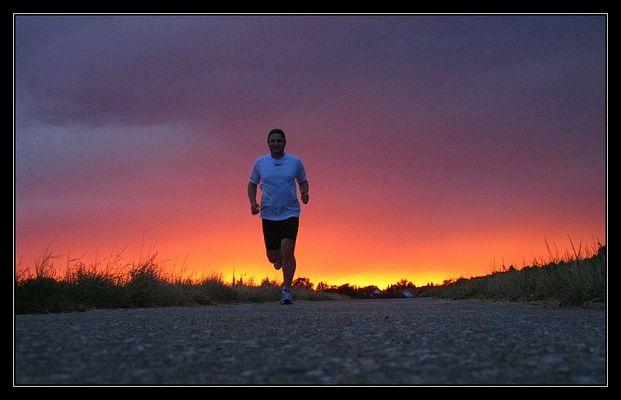 Laufen im Abendrot
