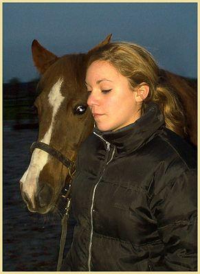 Laura mit meinem Lieblingspferd Piru