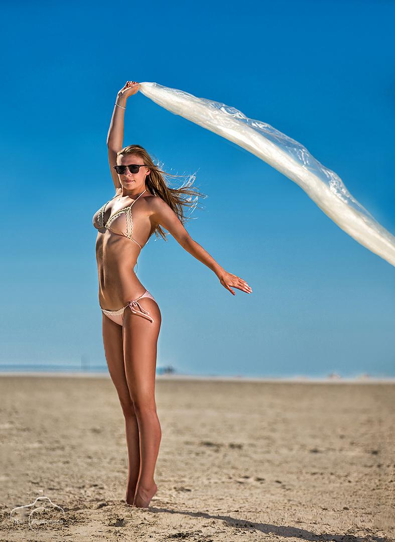 Laura on Beach