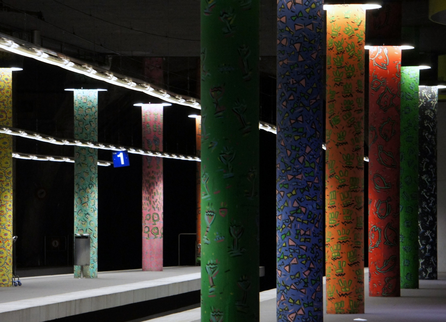 Lausanne-Flon, Schweiz, U-Bahnstation