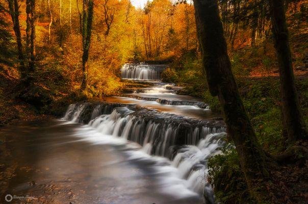 L'automne aux cascades du hérisson