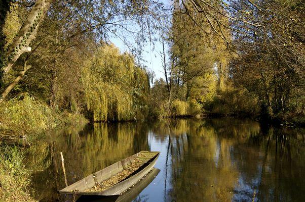 L'automne en barque