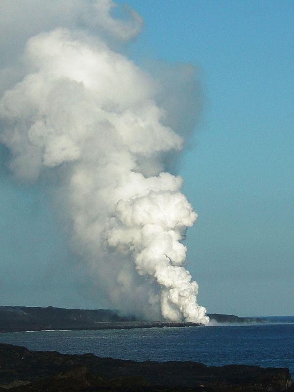 Lava Enters the Sea