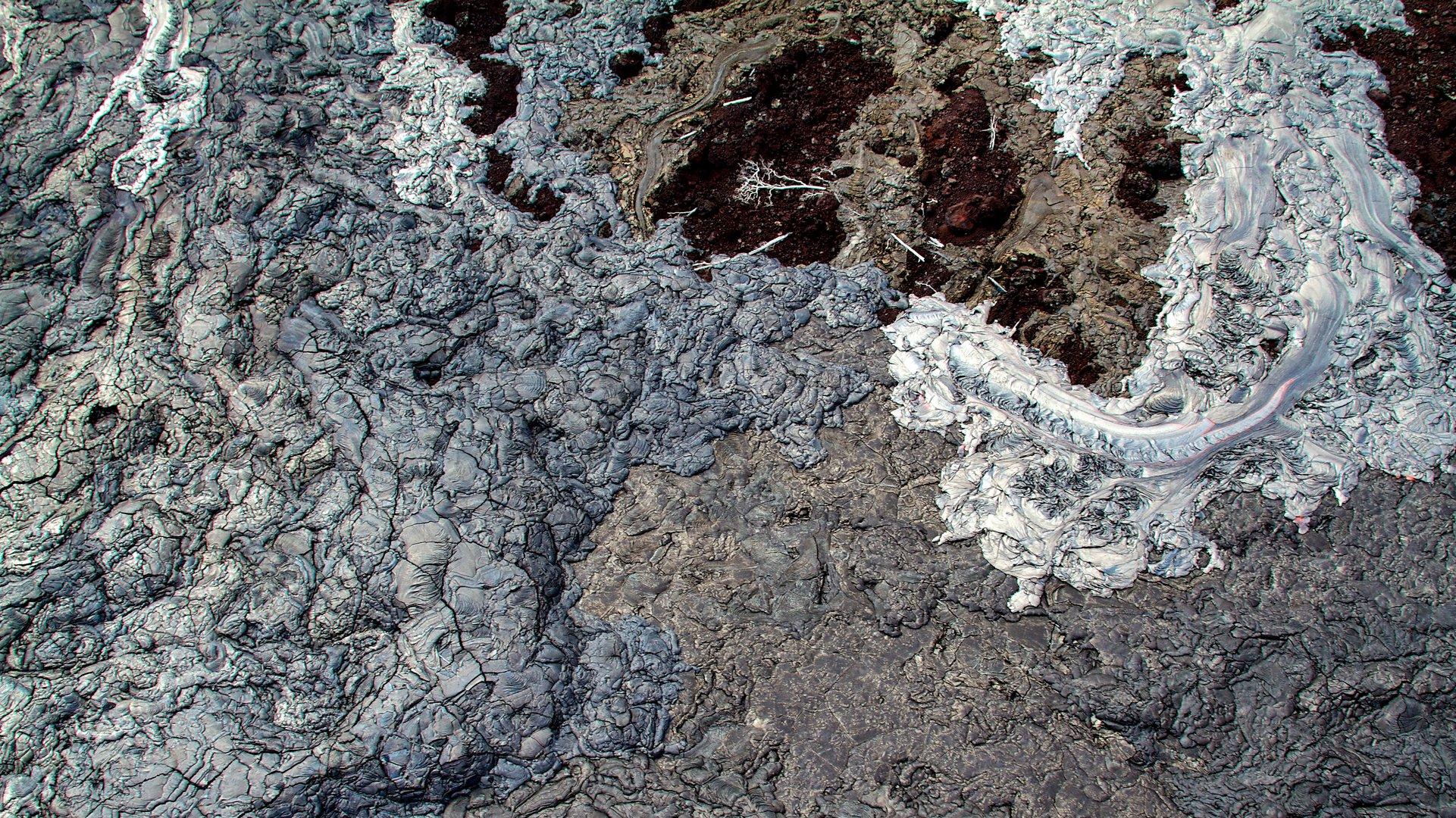 Lava field from heli