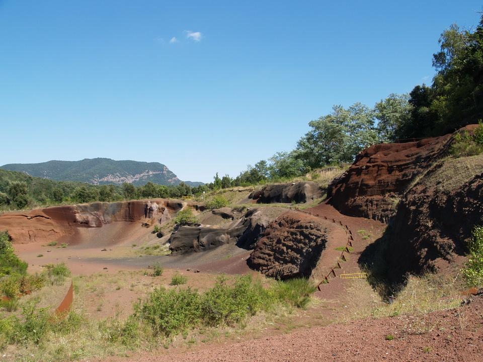 Lavasteinbruch in Spanien