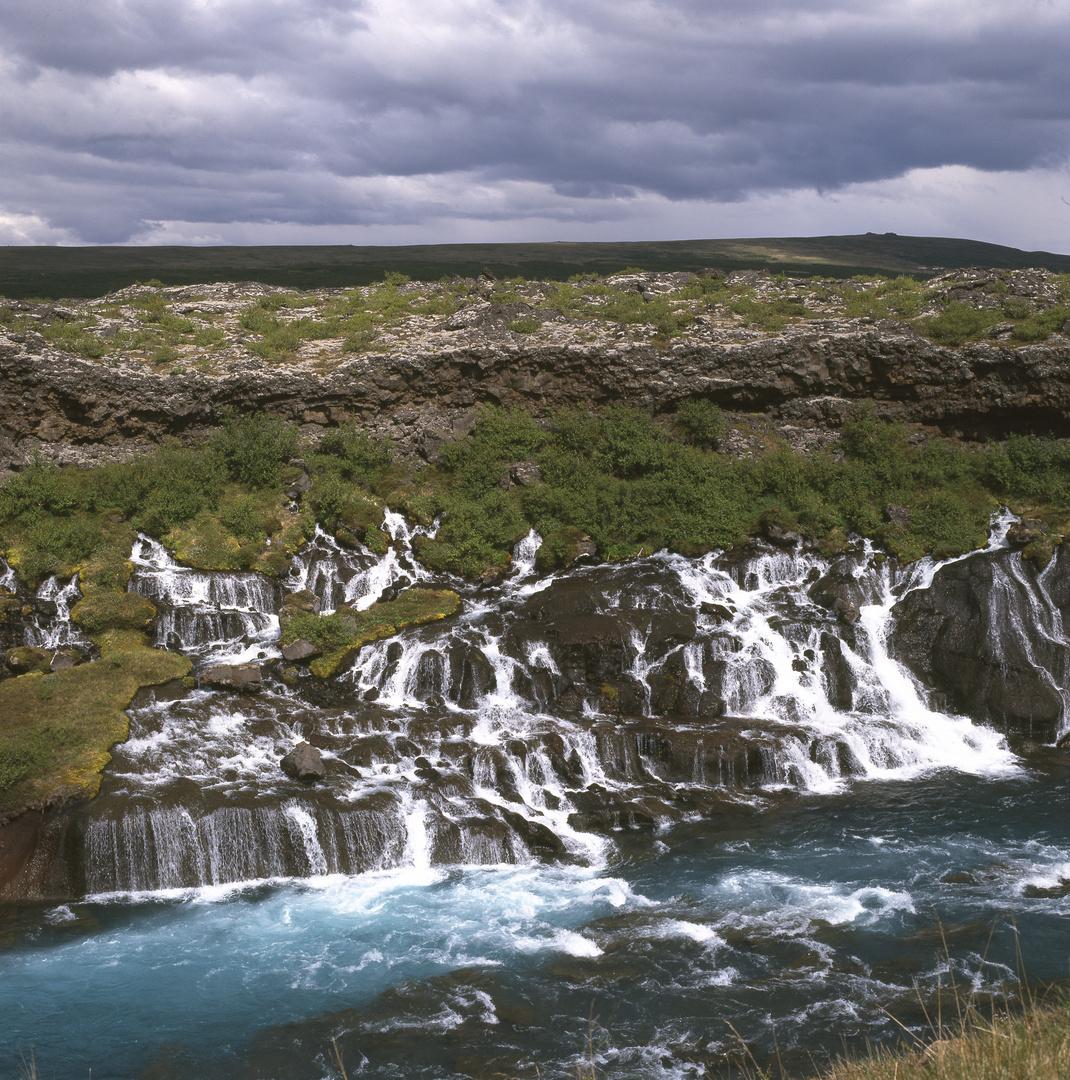 Lavawasserfälle Hraunfossar