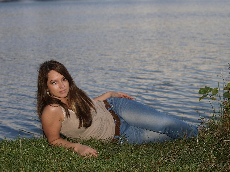 Lay down at the lake