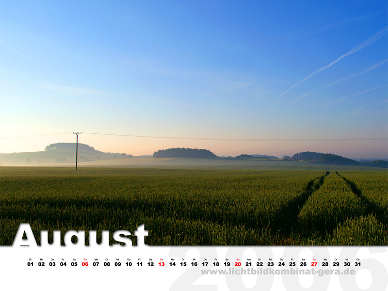 LBK-Desktop-Kalender - August 2006