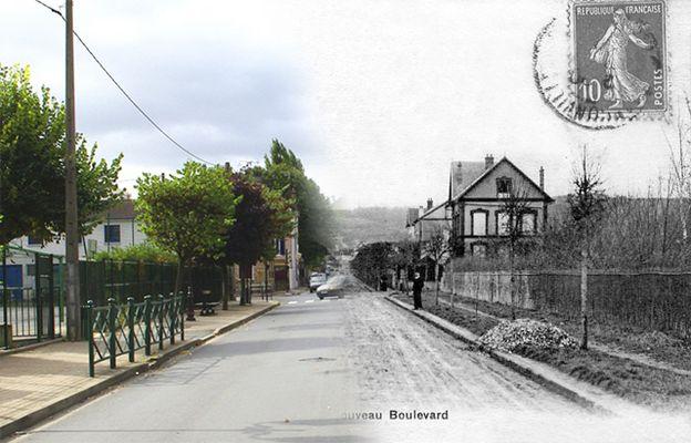 Le boulevard Maurice Bertaux à Franconville...hier et aujourd'hui