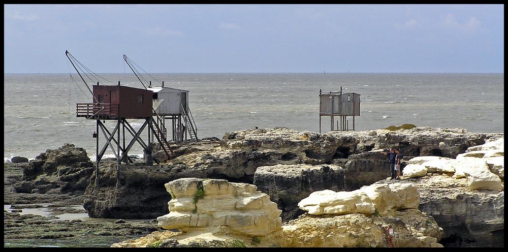 Le bout de l'estuaire et ses cabanes