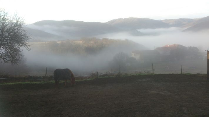 le brouillard dans la vallée