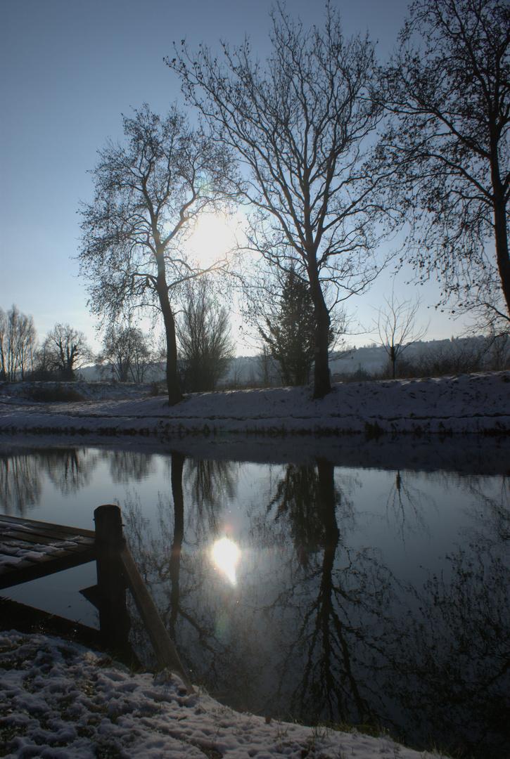 Le canal du midi enneigé