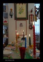 Le candele a tavola