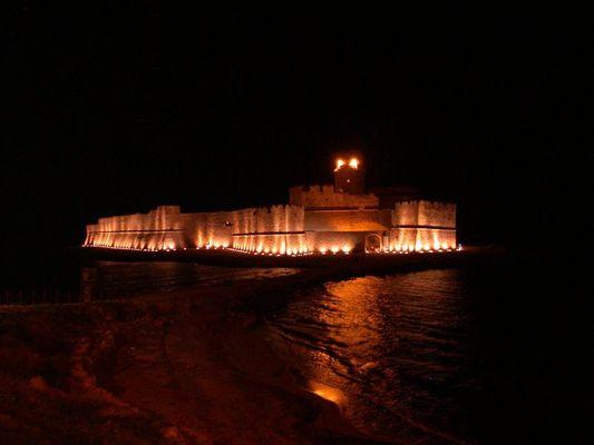 Le Castella at night