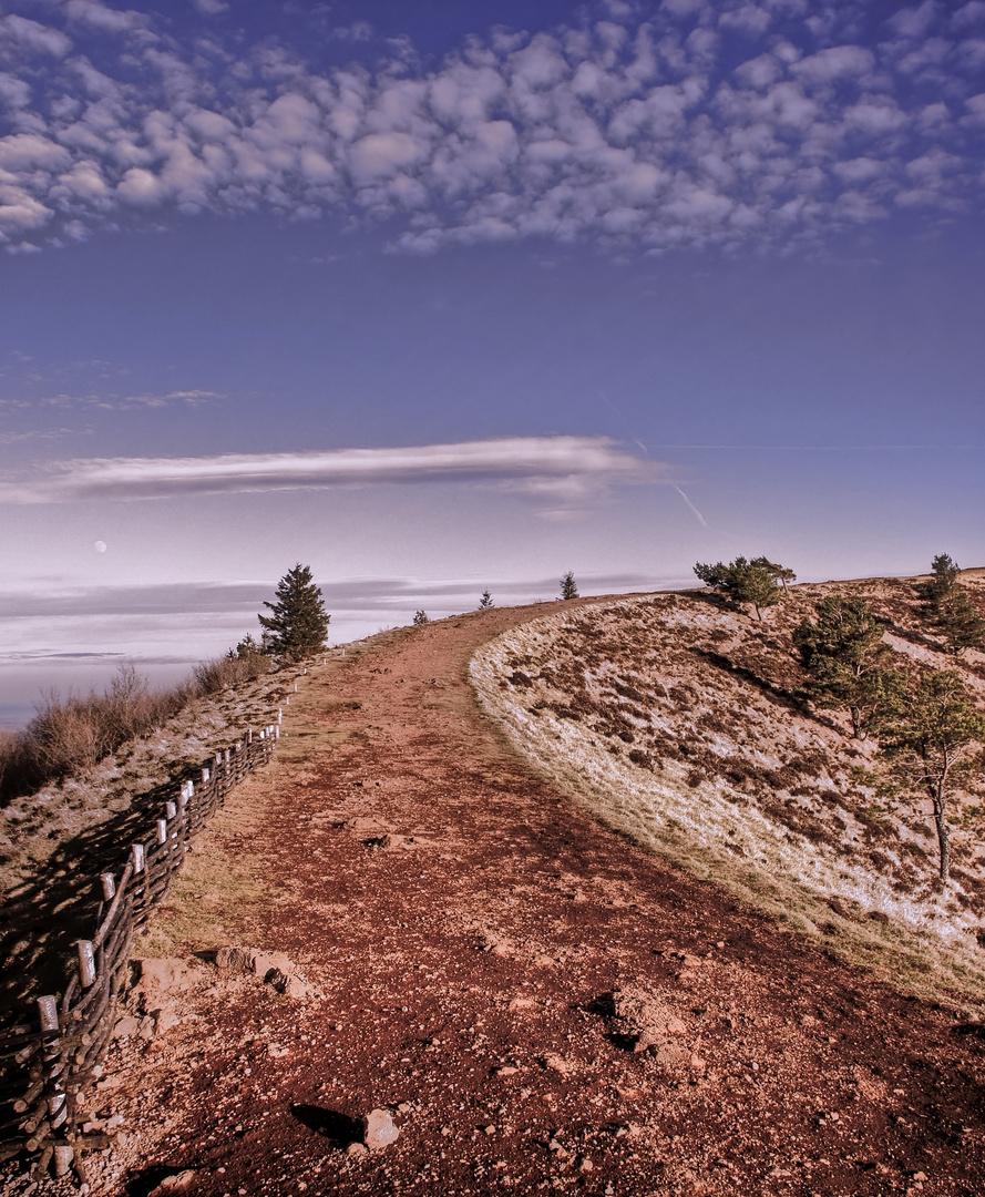 Le chemin du Pariou en Auvergne