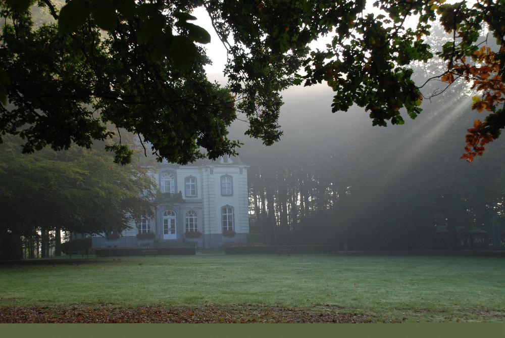 Le château allard sous la brume matinale