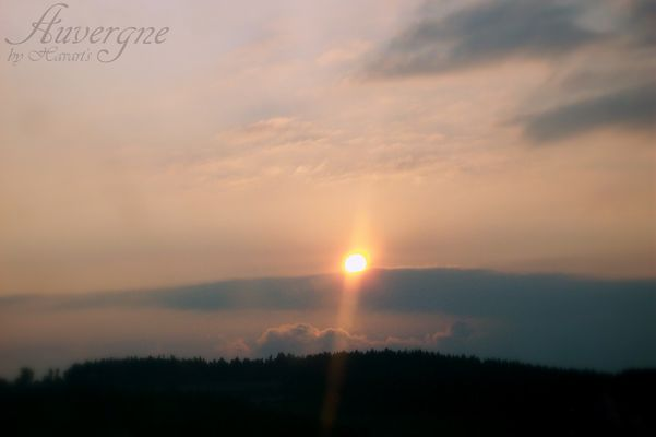 Le ciel au matin...auvergne!