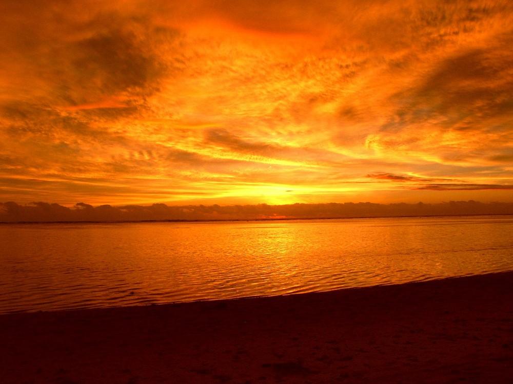 Le ciel de l'océan indien
