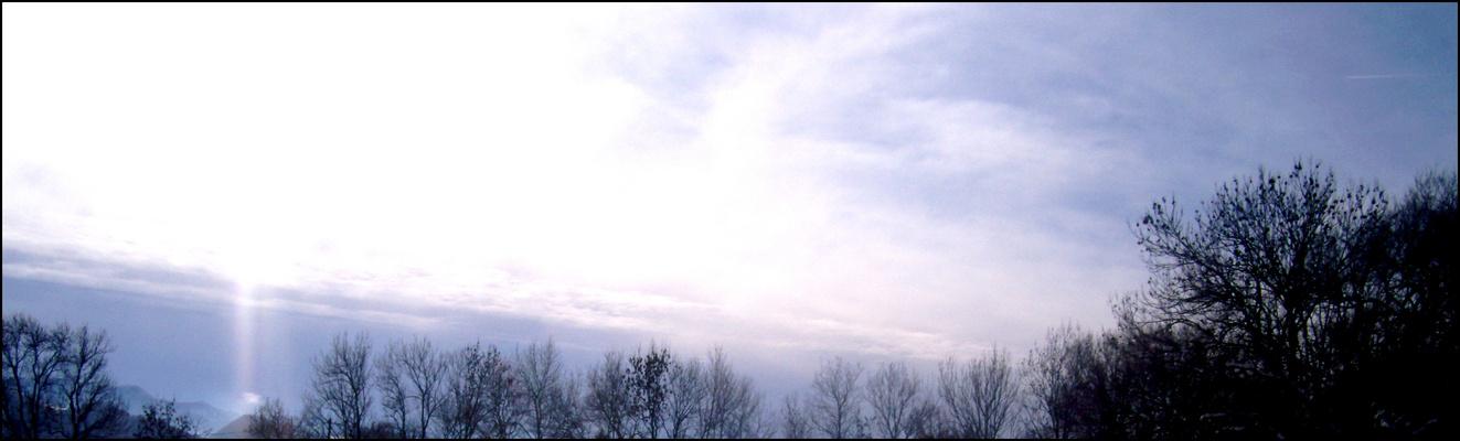 Le ciel d'hiver.