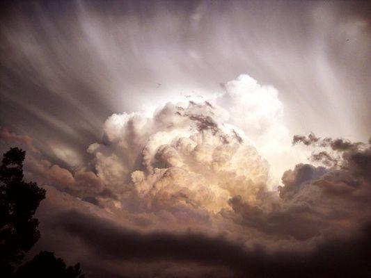 Le ciel est en colère