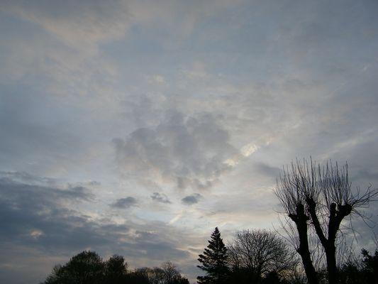 le ciel est un peu gris ce matin..
