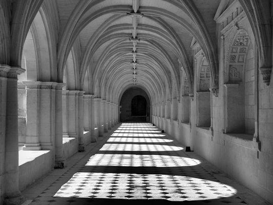 Le cloître de Fontevreau (Vienne).