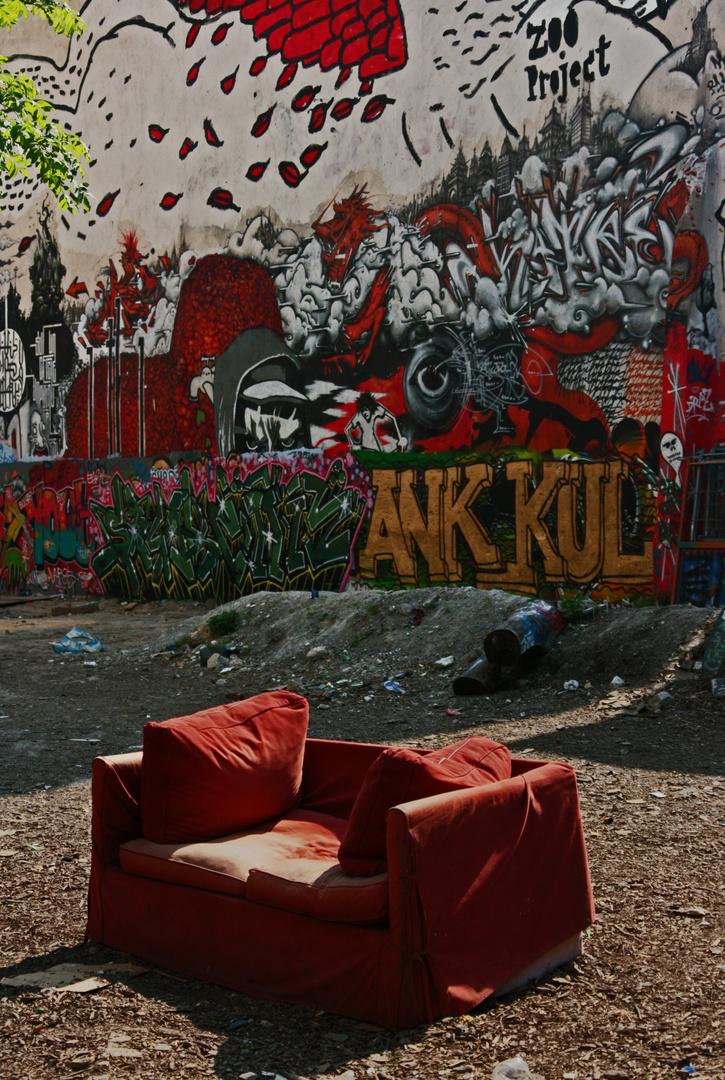 Le coin des graffeurs à Belleville