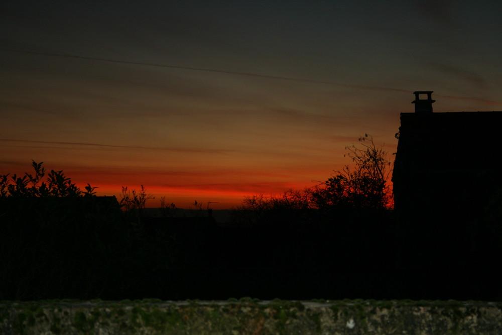 le coucher de soleil de ce soir!