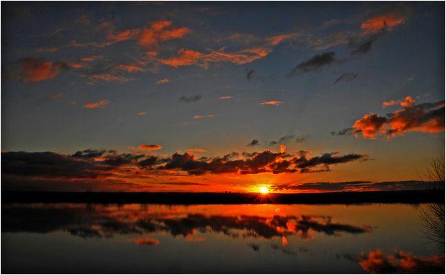 Le coucher du roi soleil.