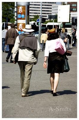 Le couple aux chapeaux