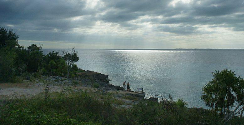 Le dernier bain dans la mer des Caraibes