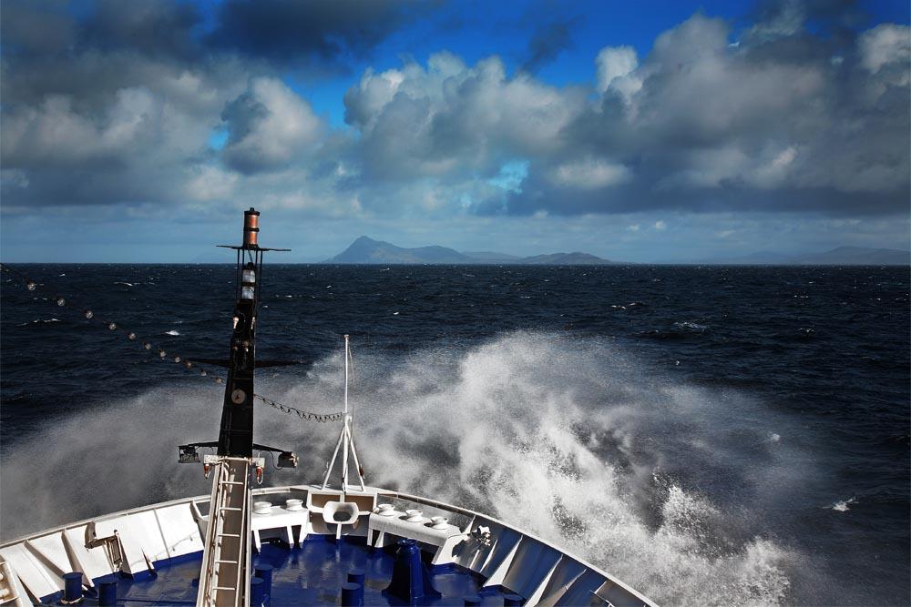 Le Diamant de retour d'Antarctique, dans le Drake, Cap Horn en vue.